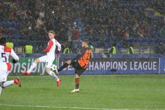 欧洲联赛冠军杯:Shakhtar顿涅茨克v费耶诺德队 免版税库存照片