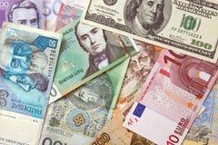 欧洲背景的货币 库存照片