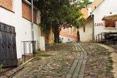 欧洲胡同, Szentendre匈牙利 免版税库存照片