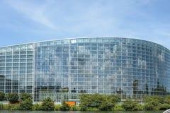 欧洲议会大厦的看法在史特拉斯堡法国 免版税库存照片