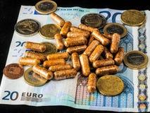 欧洲货币和医学 图库摄影