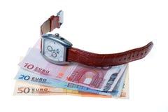 欧洲货币手表 图库摄影