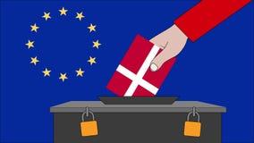 欧洲选举的丹麦投票箱 向量例证