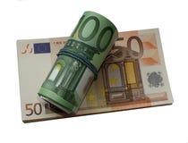 欧洲金钱隔绝了一盒欧元png 库存图片
