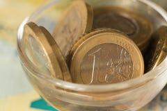欧洲金钱/欧元的看法 免版税库存图片