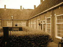欧洲风格的庭院 库存照片