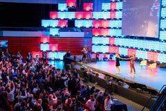 欧洲` s最大的技术会议在里斯本,葡萄牙 免版税库存图片