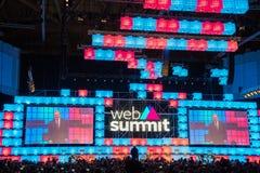 欧洲` s最大的技术会议看法  库存照片
