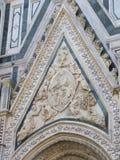 欧洲` s第四大教会,在佛罗伦萨,意大利,圣玛丽亚del菲奥雷 免版税库存照片