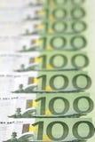 欧洲100个的票据 免版税图库摄影