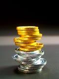 欧洲11枚的硬币 免版税图库摄影