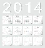 欧洲2014日历 图库摄影