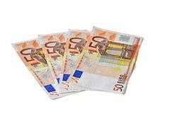 欧洲50张的钞票 库存图片