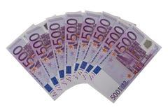 欧洲500张的钞票 库存照片