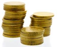 欧洲7 50枚分的硬币 库存照片