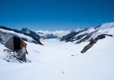 欧洲jungfrau山顶顶层 库存照片