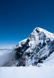 欧洲jungfrau机器翻译高峰会议顶层 免版税图库摄影