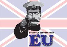 欧盟公民投票海报 库存照片