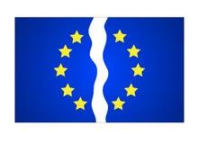 欧盟十二被撕毁的星旗子 也corel凹道例证向量 皇族释放例证