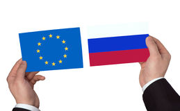 欧盟和俄罗斯 库存图片