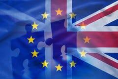 欧盟和英国难题概念 免版税库存照片