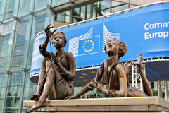 欧盟执委会现代办公室在布鲁塞尔 库存照片