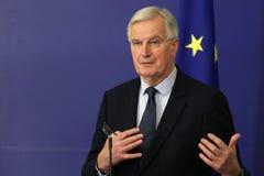 欧盟执委会` s Brexit谈判员米歇尔・巴尼耶 库存照片
