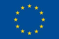 欧盟挥动的旗子  免版税库存图片