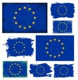 欧盟旗子汇集传染媒介 库存照片