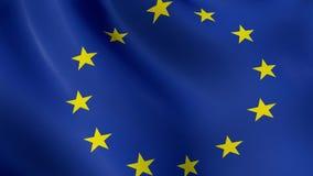 欧盟旗子,挥动在风,赋予生命 库存例证