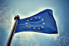 欧盟旗子 免版税库存图片