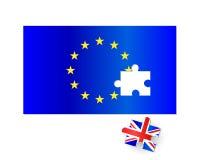 欧盟旗子Brexit竖锯 库存图片