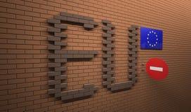 欧盟概念 库存照片