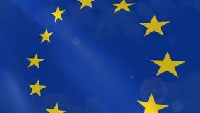 欧盟真实旗动画 库存例证