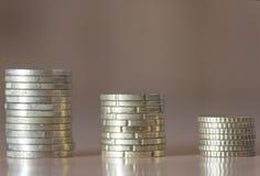 欧盟的几枚硬币 免版税库存图片