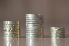 欧盟的几枚硬币 免版税库存照片