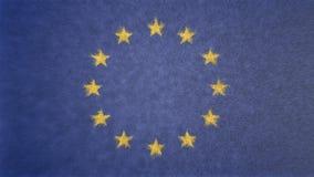 欧盟的旗子的原始的3D图象 库存照片