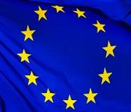 欧盟的旗子,以s为背景 图库摄影