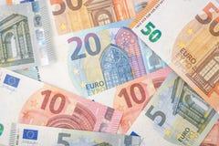 欧盟的钞票细节作为背景 库存图片