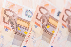 欧盟的钞票细节作为背景 选择聚焦 库存图片
