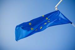 欧盟蓝旗信号 图库摄影