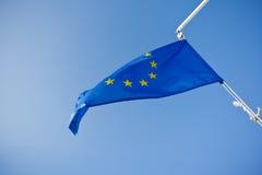 欧盟蓝旗信号 免版税库存图片