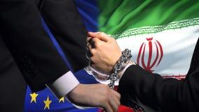 欧盟认可伊朗,被束缚的胳膊,政治或者经济冲突 影视素材