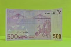 欧盟货币,五数百500欧元钞票 发单欧元 免版税库存图片