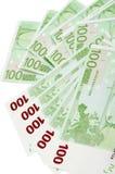 欧盟钞票 库存图片