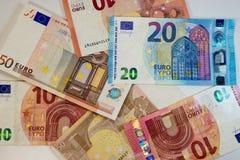 欧盟货币-纸欧洲钞票-财务 免版税库存照片