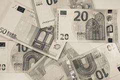 欧盟货币-纸欧洲钞票-财务 免版税图库摄影