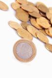 欧盟(欧盟硬币) 库存图片