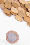 欧盟(欧盟硬币) 库存照片
