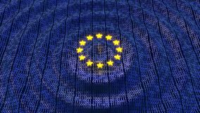 欧盟GDPR数据位元和字节挥动波纹 皇族释放例证